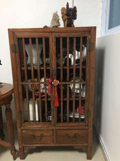 Cabinet (used for food storage in olden days) from south China. Can also use as book shelf / display cabinet