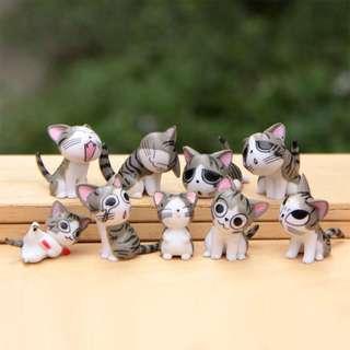 Chi Cat Minifigures - 9 pcs gray