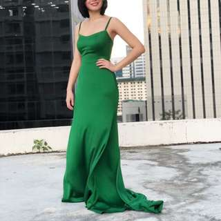 Formal emerald green long gown