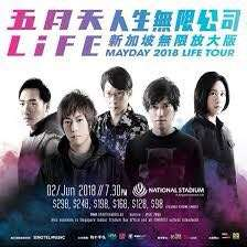 Mayday 02/06/2018 Singapore concert x 2