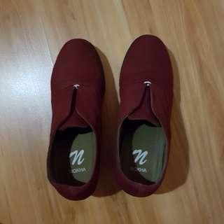 Sepatu Boots - Nokha Esme Maroon