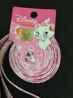 迪士尼富貴貓鞋帶 Marie Cat Shoelaces (Brand new 全新)