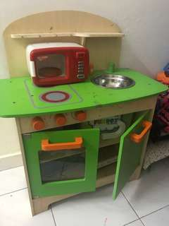 Kitchen playset wooden