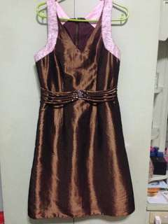 For Rent/Sale! Brown Knee-length Gown by Jojo Manalo