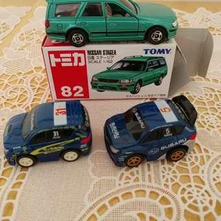 Tomica 82 and Min Subaru x 2 (not Choro q)
