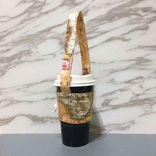 【手做包包】地圖環保手提杯套