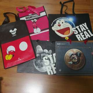 Stay Real Tote Bag and Paper Bag