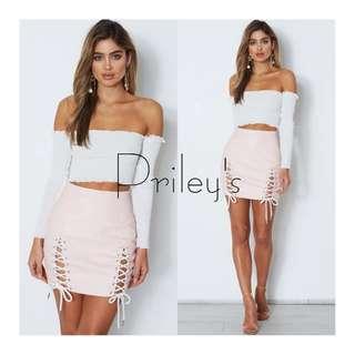 Off-shoulder Top and Skirt Set