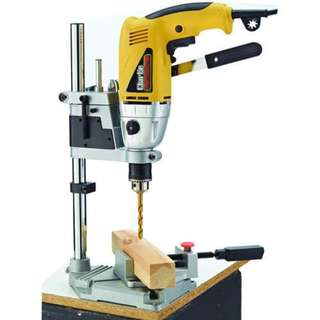 Brand New Available Now! Not pre-order SCAMS!  With Depth guage for Safety! Bench Drill Press Stand Drilling (Aluminum) Grinder Workstation Dremel Workbench with Depth guage n stop Size smaller than 43mm only blue color