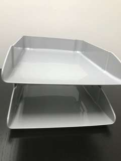 2 tier Grey Plastic Tray