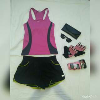 Set sports wear top small size+short size 27