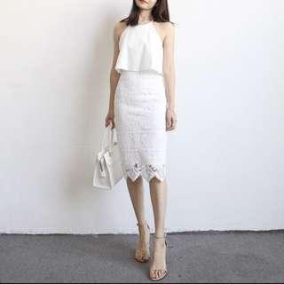 [PO] Lace wave skirt dress