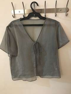 Georgetown grey mesh cover up
