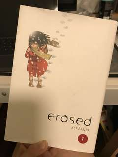 ERASED Manga hardcover. Like NEW. Kei Sanbe