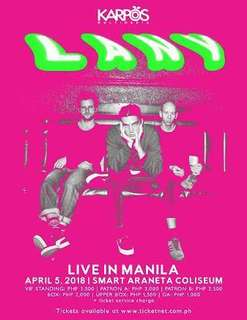 Lany Live in Manila Concert Tickets Gen Ad