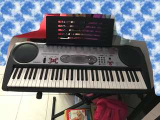 Casio piano Keyboard, electric electronic organ with stand