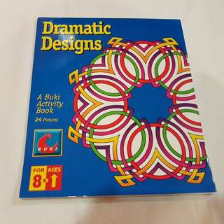 🌼 DRAMATIC DESIGNS COLOURING BOOK