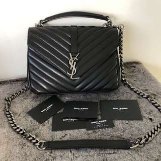 Genuine YSL College Small In Smooth Leather