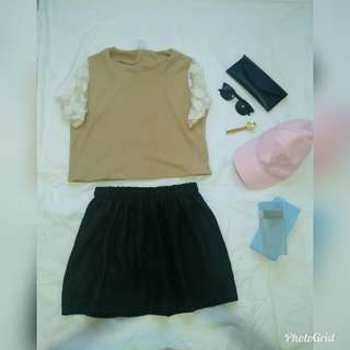 Set top small size+ skirt size 27