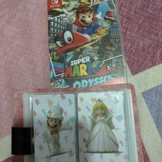 Mario Odyssey with Amiibo Cards