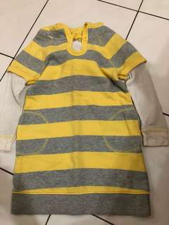 Old navy yellow stripe hoodie long sweater