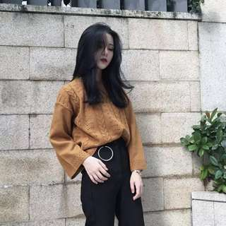 Knitted Round Neck Pullover