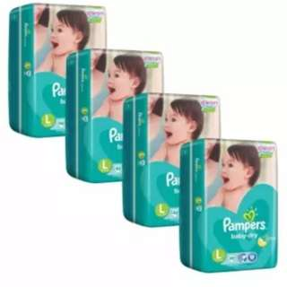 Pampers Baby Dry Diapers L46 (9-14kg) x 4 Pack