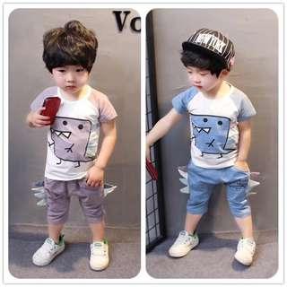小童短袖短褲套裝