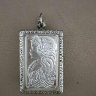 Rare 1oz PAMP 999 silver