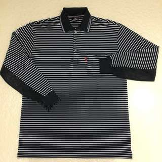 <DUNLOP>Made in Japan, long sleeve polo, Size L. Unused!