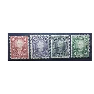 Sarawak 1895 Full Set SG 28 - 31 MH CLEAN