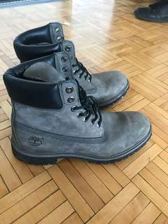 Grey/Black Suede Premium Timberland Boots