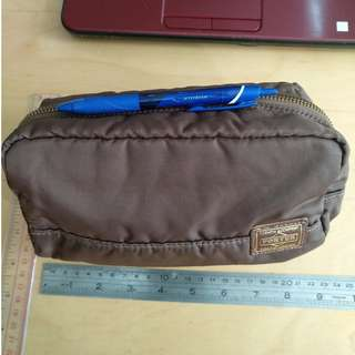 100% New made in Japan leather Pouch Clutch Cosmetic Bag 袋 iPhone Porter Sony 真皮