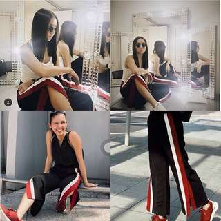Track Pants (Black & Red)