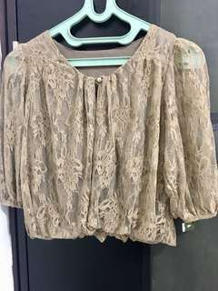 Cardigan/sweater Brokat