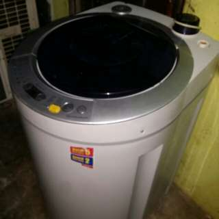 Used sharp washer 8.0kg washing machine mesin basuh fully auto stainless steel drum in good condition