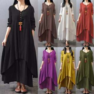 [InStock] Boho Asymmetric Maxi Dress (35)