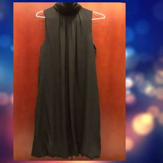 ZARA 黑色優雅雪紡典雅洋裝S號