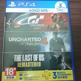 PS4遊戲含運 秘境探險4中文版+跑車浪漫旅GT Sport