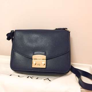 Furla Metrololis Shoulder Bag Navy