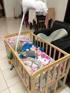 Baby Bed frame with cution