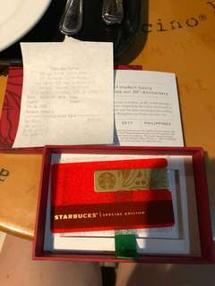 Starbucks Metal Card 2017 with P2,500 load