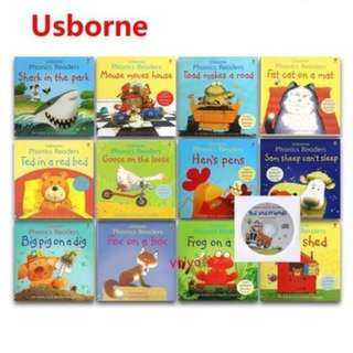 USBORNE PHONICS BOOKS (12 BOOKS SET) phonics books for pre school beginner