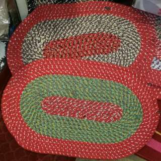 民族色彩系橢圓形地墊、地毯 (棉料-2色)