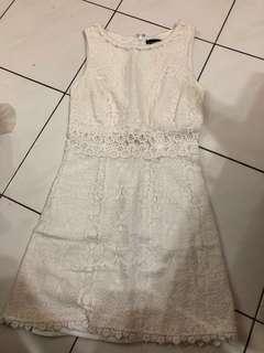 Topshop white lace dress