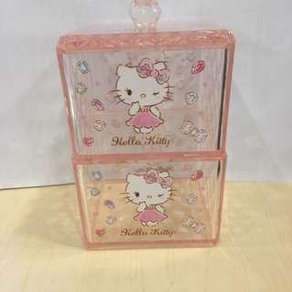 Hello kitty棉簽盒 儲物盒 盒仔