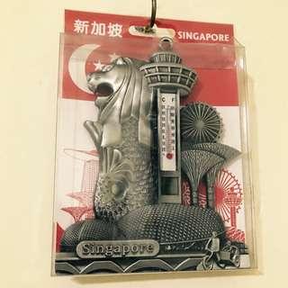 新加坡帶回~金屬溫度計復古小擺飾