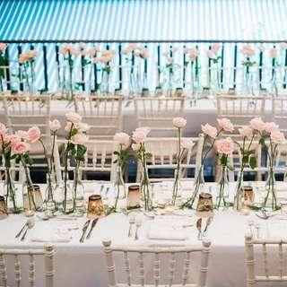 Glass bottles for decor!