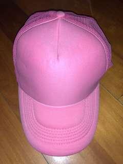 粉紅色鴨舌帽 pink cap 100% new
