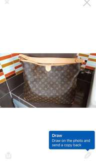 Louis Vuitton Delightful Bag MM size